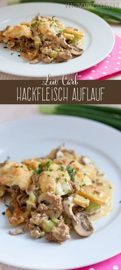 Low Carb Sellerie Hackfleisch Auflauf - der Sellerie ist ein toller Ersatz für Kartoffeln :) #lowcarb #abnehmen #glutenfrei #schlankimschlaf www.lowcarbkoestlichkeiten.de
