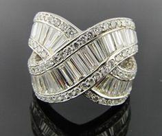 Ring - Ferro Jewelers - Estate Jewelry | DIAMOND CRISSCROSS RING