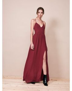 Krisa | Red Lace Back Maxi Dress | Lyst