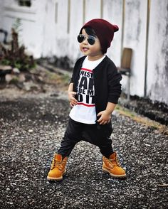 """▪️TylerH 2️⃣ Years Old ▪️ on Instagram: """"Tyler outfits of the day  Maroon knit beanie @beau_hudson  Jacket @luckyno7.nl  Gangsta Rap Make Me Do It tee @avenue_g_  Vegan leather…"""""""