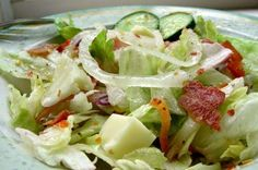 55 House Salad Recipe ~ Dressing recipe is found in many upscale restaurants