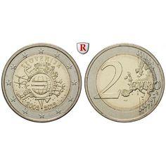 Slowenien, 2 Euro 2012, bfr.: 2 Euro 2012. 10 Jahre Euro-Bargeld. bankfrisch 5,00€ #coins