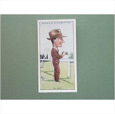 W EARL SINGLE CIGARETTE CARD NO 19 OGDEN'S 1929 Tilleys of Sheffield