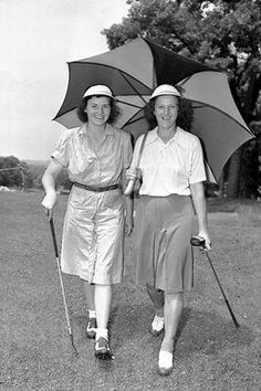 Peggy Kirk Bell and my Great Aunt Babe Didrikson Zaharias in 1946.