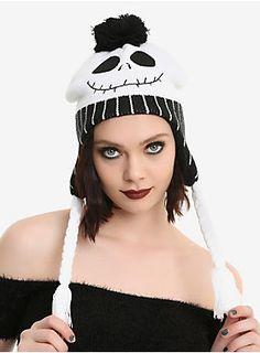 Beanie...for your skull // The Nightmare Before Christmas Jack Pinstripe Pom Beanie
