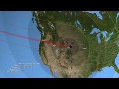 Eclipse Across America: Path Prediction Video Solar Eclipse Facts, Solar Eclipse Activity, Solar Eclipse 2017, Earth And Space Science, Earth From Space, Teaching Science, Science Activities, Weird Science, Science Fun