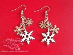 Adventures of a DIY Mom - Snowflake Earrings and Necklace - Prima Bead