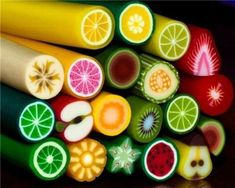 Beautiful Mini 'fruit' candy.--great patterns, as well: