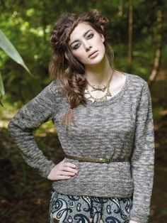 Kamut - Knit this womens fitted sweater from Simple Shapes Purelife Revive and Summerspun, designed by Sarah Hatton using the divine yarn, Summerspu...
