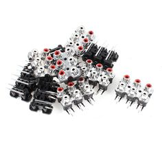 UXCELL 10 Pcs 6 Rca Female Outlet Audio Video Av Concentric Socket Connector #Affiliate