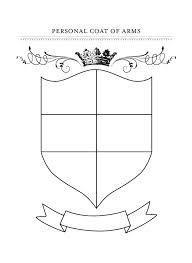 FREE Printable Coat of Arms Template | Homeschool Giveaways | kids ...