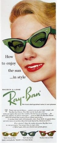 Cat eye sunglasses by Ray Ban. glasses, retro, vintage, pin-up Retro Vintage, Photo Vintage, Mode Vintage, Looks Vintage, Vintage Love, Vintage Shoes, Vintage Green, Vintage Accessories, Glamour Vintage
