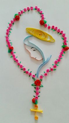Best 12 The Blessed Virgin Mary Paper Quilling Cards, Quilled Paper Art, Quilling Art, Catholic Crafts, Catholic Kids, Quilling Patterns, Quilling Designs, Diy Arts And Crafts, Paper Crafts