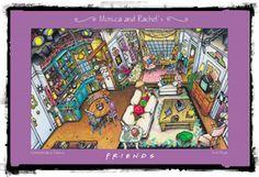 Monica's apartment layout #friends