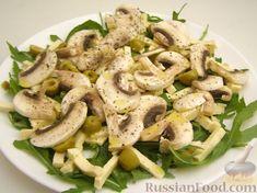 Испанский салат с морепродуктами