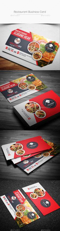 Restaurant Business Card Template PSD