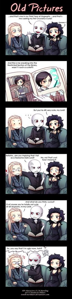 Is that possible, that Death Eaters can be cute? Ughm - I mean...