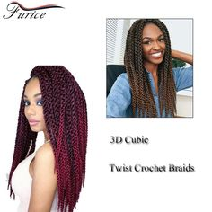 24Inch Crochet Braids Senegalese Kinky Twist Hair 120g/Pack 3D Cubic Twist Crochet Hair Braiding Top Quality Synthetic Fiber