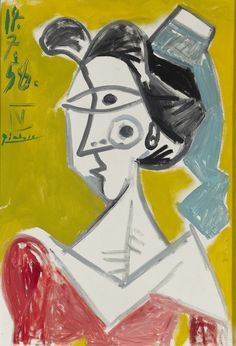 Rau, Pablo Picasso, L'Arlésienne Oil on canvas, 21 × 14 in Pablo Picasso Drawings, Picasso Cubism, Picasso Portraits, Cubism Art, Picasso Paintings, Cubist Artists, Georges Braque, New Art, Artsy