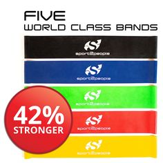 Best Resistance Bands Loop Set ● Resistance Bands For Legs ● Exercise Bands For Legs ● Physical Therapy Bands ● Great Equipment For Your CrossFit Workout ● Eco-Friendly 5 In 1 Strength Bands w/Carry Bag Makes the Perfect Travel Buddy for Men & Women Resistance Loop Bands, Resistance Workout, Leg Workout With Bands, Exercise Bands, Strength Bands, How To Increase Energy, Physical Therapy, No Equipment Workout, Strength Training