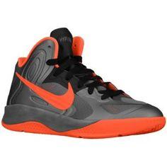 Nike Hyperfuse - Boys' Grade School - Basketball - Shoes - Black/Cool Grey/Volt