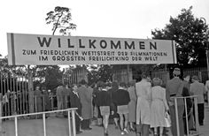 """Westend 1951 Die Waldbuehne das """"groesste Freilichtkino der Welt"""""""