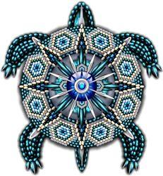 Beadwork Turtles  Naumaddic Arts!  NaumaddicArts@gmail.com