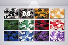 Camouflage Personalized Wall Art