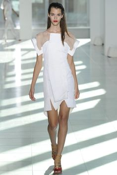 Antonio Berardi RTW Spring 2014 // Learn how to sew with sheer fabrics: http://www.universityoffashion.com/lessons/sheers-seam-finishes-compilation/