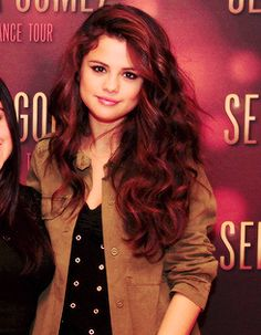 Selena at her meet and greet I wish I could meet her again she was so sweet