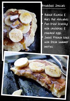 Baked Ricotta And Mars Bar Hotcakes - Cook Republic Breakfast Specials, Breakfast Items, Best Breakfast, Lemon Ricotta Cake, Baked Ricotta, Pavlova, Brunch Recipes, Breakfast Recipes, Mars Bar