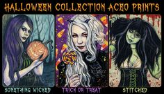 Halloween Collection ACEO Prints Pumpkin Jack o by ElvenstarArt