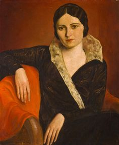 Orloff, Gregory - Portrait of Edith Gershgorn   by ros_with_a_prince