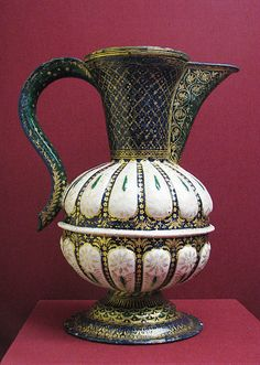Ewer, circa, late 15th, early 16th century. Culture: Italian, (Venice). Medium: Painted enamel on copper, partly gilt.