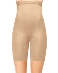 Must: In-Power® Line Super Higher Power Panty by SPANX.  Even if you're a size 2, everyone can benefit from these.  Perfect to streamline your silhouette in waist-cinching skirts and dresses - hits under bust (just below breast tissue).