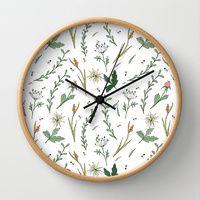 Wall Clocks by Alessandra Spada | Society6