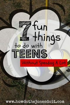 you're on a budget and you're sticking to it! That doesn't mean you have to sit and stare at each other as life passes you by. (I'm preaching to the choir here.) Check out 7 fun things to do with teens. Cheap Things To Do, Free Things To Do, Fun Things, Things To Do When Bored For Teens, Things To Do With Boys, Ro Do, Activities For Teens, Family Activities, Summer Activities