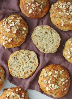 Baby Food Recipes, Baking Recipes, Danish Food, Food Crush, Bread Bun, Breakfast Cookies, Easy Healthy Breakfast, Healthy Baking, Bread Baking