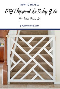 DIY Chippendale Baby Gate... for less than $5