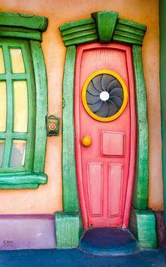 Door in Toontown, Disneyland California