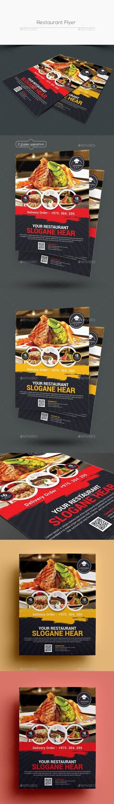 restaurant poster Restaurant Flyer by Details Fully layered Adobe Photoshop 1 Layout Designs amp; 2 Color Fully layered PSD print size: inchesbleed a Flyer Design Templates, Menu Design, Print Templates, Flyer Template, Layout Design, Letter Templates, Restaurant Poster, Restaurant Menu Template, Seafood Restaurant
