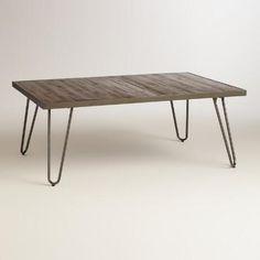 Rectangular Wood Hairpin Coffee Table   World Market