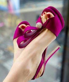 Burgundy pink heels