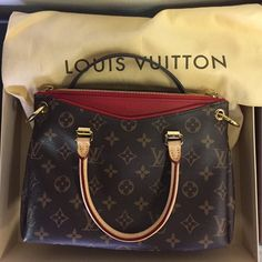 Louis Vuitton Mono Canvas Pallas Amethyst Satchel NEVER USED! Comes with bag, box, and authenticity card! Originally purchased in Paris Louis Vuitton Bags Satchels