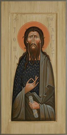 Saint John the Baptist  by Olga Shalamova. 2014.  SacredMurals.com