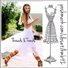 Monoreno Crocheted Hem Dress Stunning strapless Monoreno crochet tiered hem dress. Color white with elastic bodice for the perfect fit. Perfect resort wear or for that special occasion event. Size S, M, L price is firm no additional discounts. 70% rayon & 30% polyester. Monoreno Dresses