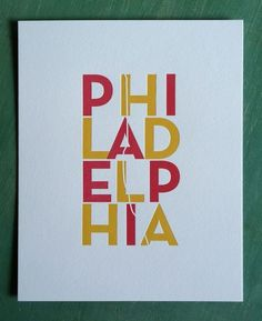 "I like this small (8 x 10"") Philly print. Only $12.50"