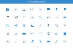 Check out Blue Marketing Icons by Q.Li on Creative Market