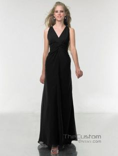 A-line V-neck Ankle-length Chiffon Bridesmaid Dresses 114MT8772