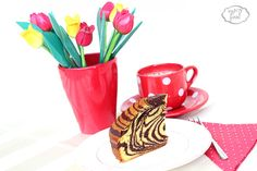 Zebra cake -  prajitura/chec zebra Dessert Recipes, Desserts, Homemade Food, Food And Drink, Pastel, Tableware, Cake, Tailgate Desserts, Deserts